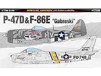 Academy 1/72 P-47d & F-86e 'gabreski' Ltd Edt # 12530 - Plastic Model Kit