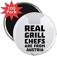 "CafePress–Realグリル料理人はオーストリアからca5e3Magnets–2.25""マグネット100パック"