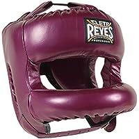 Cleto ReyesレザーボクシングHeadgearて再設計ナイロン面バー – パープル