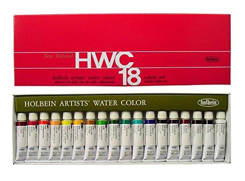 ホルベイン  透明水彩絵具 18色セット W403 5ml(2号)