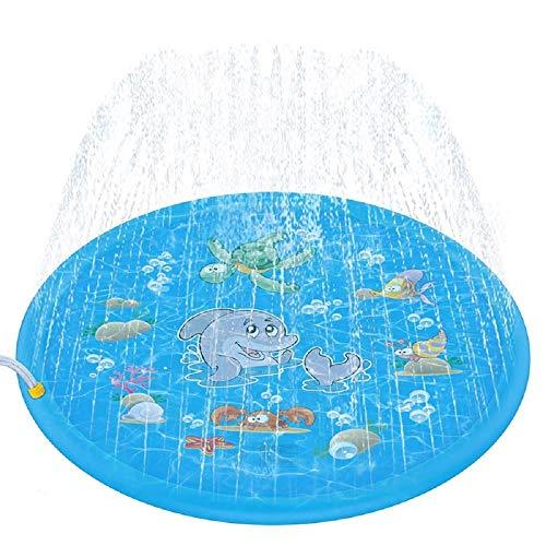 噴水マット 噴水おもちゃ プール噴水プレイマット ウォーター プレイ アウトドア 芝生遊び 水 夏の日 子供用 おもちゃ