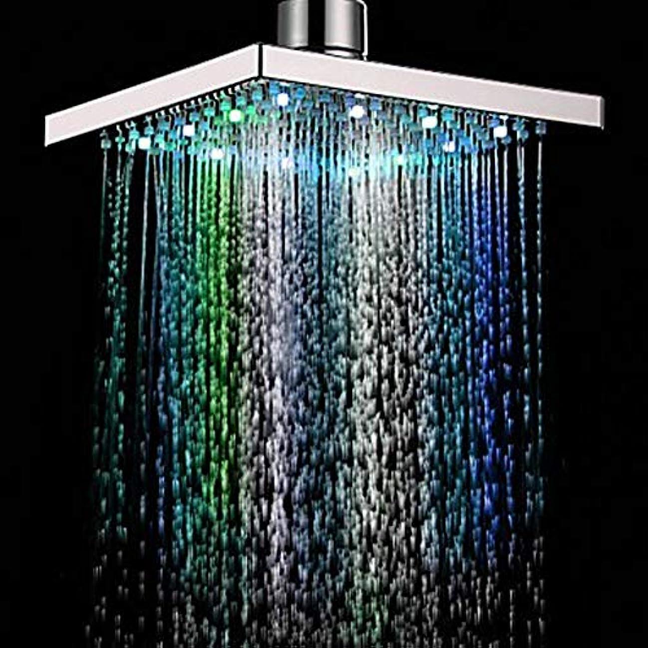 乱れパスタモジュールレインシャワーヘッド、LEDシャワーヘッドの色温度制御された降雨トップスプレーシャワーヘッド浴室シャワー加圧水保存