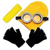 #7: iniko コスプレ 小物 (ゴーグル ヘアバンド ニット帽 手袋 4点セット) 仮装 キャラクター 映画 小道具 (通常版)