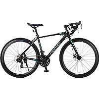 NEX TYLE (ネクスタイル) ロードバイク シマノ製21段変速 RNX-7021DC ディスクブレーキ (アルミフレーム 男性 女性 ) (マッドブラック)