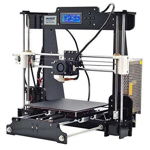 ALUNAR- Reprap Prusa i3 3Dプリンター 未組立 DIYキット 押出機ノズル最高250℃ 印刷サイズ220 * 220 * 230mm SDカード同梱 フィラメント(PLA)付属1.75mm 正味0.5kg