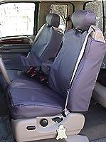 Durafit Covers。fd14-l4。フォード・f250-f550前面と背面シートセットシートカバー。フロントバケットwith調節可能なヘッドレストと、シートベルト。背面60/ 40分割シートwith Integratedアームレストwithカップホルダーと調節可能なヘッドレスト付き。トープレザーレット。