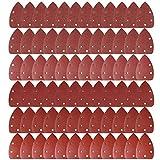 Teenitor ミニデルタサンダー サンドペーパー サンディングディスク サンディングパット 140mm 72枚 #40#60#80#120#180#240 電動サンダー用ペーパー サンダーやすり