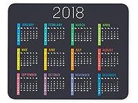 2018年カレンダーマウスパッド滑り止めPersonalized長方形ゲームゴムマウスパッド ブラック