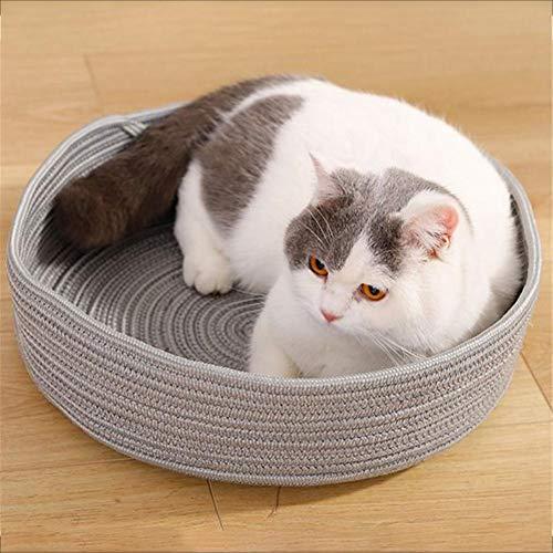 猫用 ベッド 夏 ペットベッド クール 洗える キャットベッド おしゃれ 円形 折りたたみ可能 丈夫な素材編み 猫グッズ 四季適用