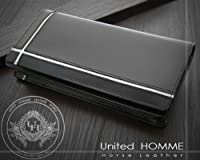 United HOMME UHクロスライン馬革長財布 (ホワイト)