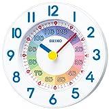 セイコー クロック 掛け時計 置き時計 兼用 知育 アナログ 白 KX619W SEIKO
