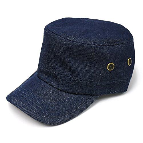 (クリサンドラ) Chrisandra 全9柄 綿100% メンズ キャップ ワークキャップ フリーサイズ カジュアル 無地 デニム ビジカジ ブランド 帽子 大きいサイズ クリサンドラ タオルハンカチ 1枚 プレゼント デニム c01 bs01