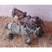 Langleyモデル2 Shire Horses +ハーネスOOスケール未塗装メタルモデルキットf72