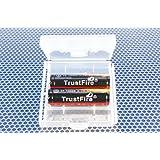 【14500電池2本付】 TrustFire製 電池ケース + 【 TrustFire 14500 900mAh 2本付】 《TrustFire直輸入・正規品》