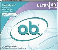 o.b. Applicator Free Digital Tampons, Ultra - 40 Count