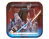 American Greetings Star Wars: the Last Jedi 8 Count Dinner Square Large Party Plates