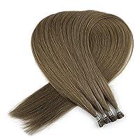 Paruks レーミチップストレートスティックエクステ 人毛Hairウィッグ17色選択 25本セット (28inch, 10A)