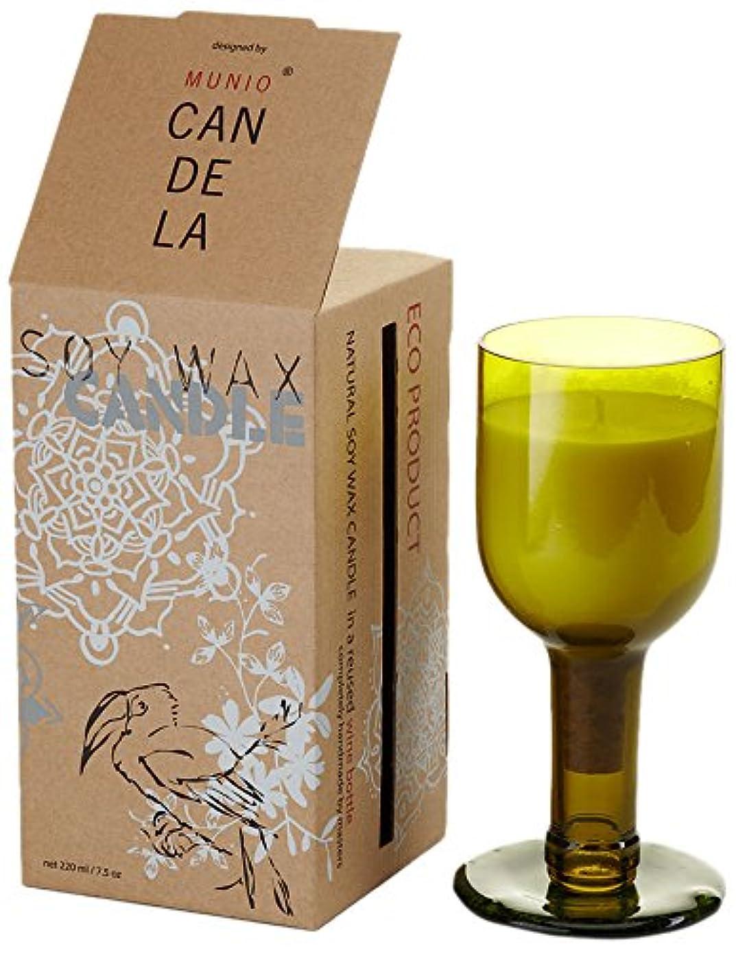 穴塗抹収容するソイワックス リユーズド ネック ワインボトル キャンドル ローズガーデン