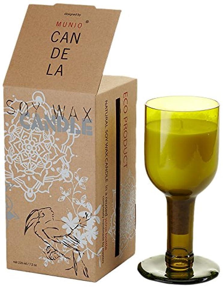 文明化する共和国驚くべきソイワックス リユーズド ネック ワインボトル キャンドル サマーロマンス
