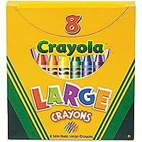cyo520080 Largeクレヨン、Tuckボックス、8色/ボックス