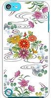 ohama iPodTouch5 アイポッドタッチ5 ハードケース t105_b 和柄 水流 花柄 菊 菖蒲 藤の花 A スマホ ケース スマートフォン カバー カスタム ジャケット apple