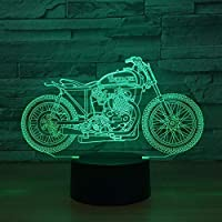 周囲光、 ベッドルームの装飾照明のオートバイを点滅7色パワードイリュージョンランプLEDナイトライトUSB