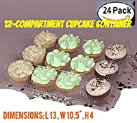 The Bakers Pantry カップケーキボックス カップケーキ 24個パック カップケーキ 12-Compartment