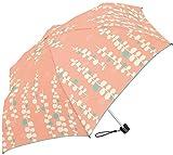 レインボードロップ ウィンディドロップ 耐風 ボタニカル 全4色 折りたたみ傘 手開き オレンジ 6本骨 55cm 軽量 コンパクト傘 グラスファイバー骨 34310