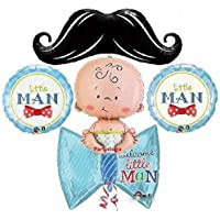 Little Man MustacheベビーシャワーバルーンブーケDecorations Supplies It 's A Boy Welcome Baby