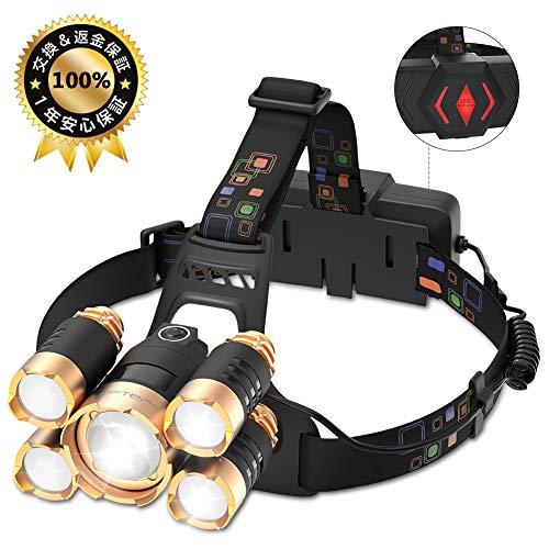 LOFTER ledヘッドライト USB 充電式 ヘッドランプ 防水 LED...