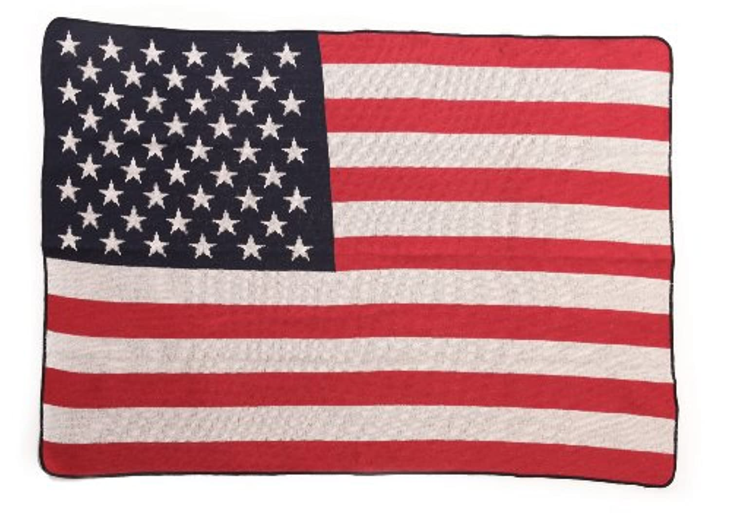 Green 3 US Flag Throw Blanket, Red/White/Blue by Green 3