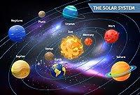 Yeele写真背景幕–写真背景–10x 8ft Galaxy the Solar System Universe Planet Backdrop画像子供少年大人Portrait Shooting PhotocallビニールStudio小道具