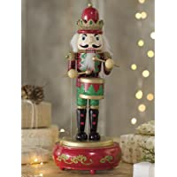 Wooden Musical Nutcracker Statue レッド HD8280-RD