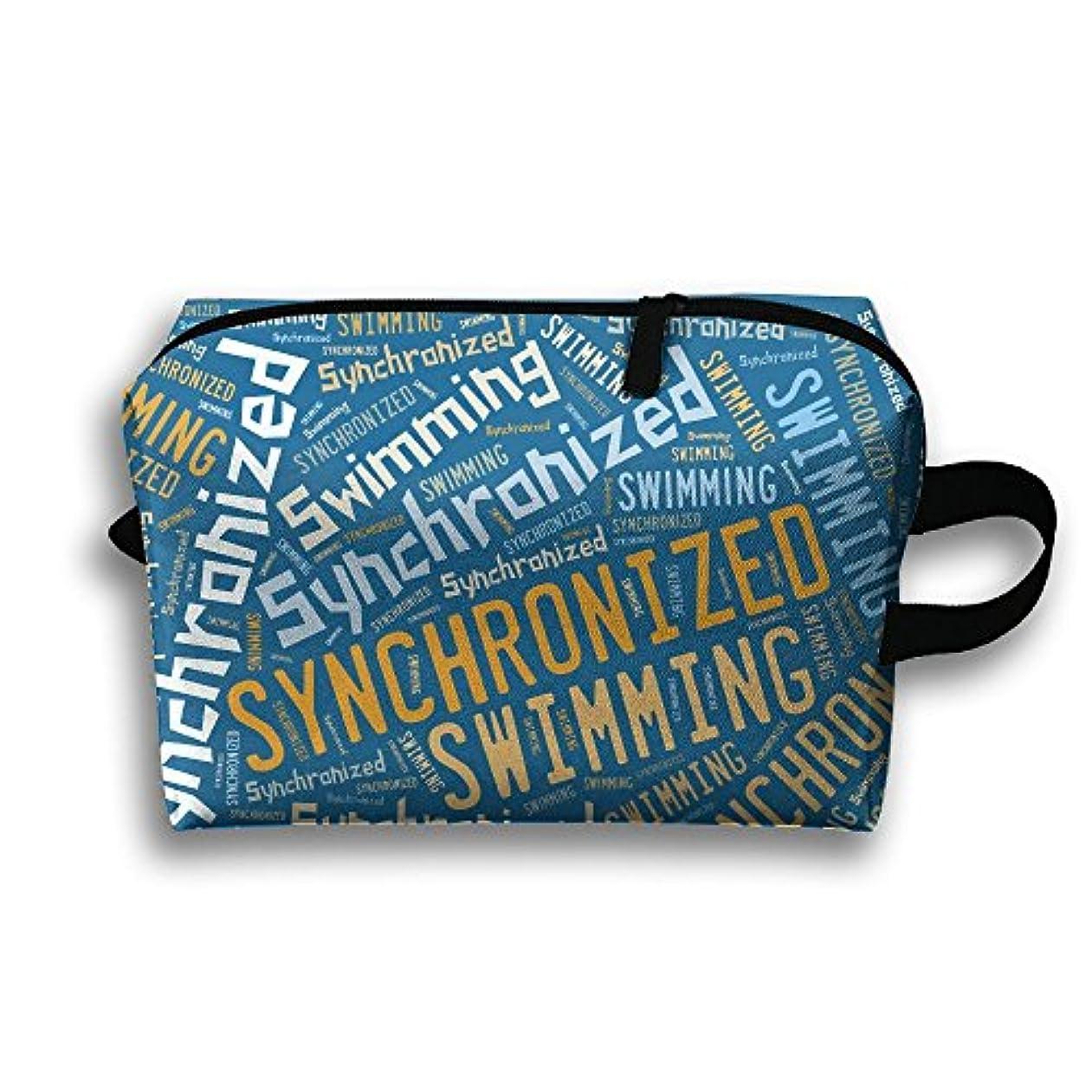 会話型コンパニオン国勢調査ポーチ シンクロナイズドスイミング 旅行用化粧品バッグ 洗面用具 出張 PC周辺小物整理 小物入れ 大容量 軽量 収納 White