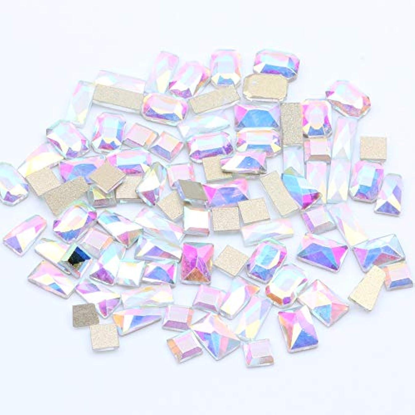 概要黙アドバイスNIZIマルチサイズオプション20ピースクリスタルabネイルガラスラインストーンクリスタル3dネイルアートストーンビーズデカール装飾用品ジュエリー(06クリスタルABミックス)