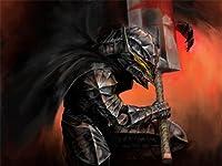 【コミック】ベルセルク 甲冑 剣 アートプリントポスター MANGA BERSERK GUTS SWORD HELMET LV10032