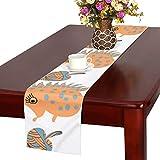 GGSXD テーブルランナー すばしこい ハリネズミ クロス 食卓カバー 麻綿製 欧米 おしゃれ 16 Inch X 72 Inch (40cm X 182cm) キッチン ダイニング ホーム デコレーション モダン リビング 洗える