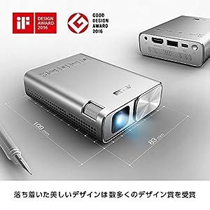 ASUS ZenBeam E1 ポケット LED プロジェクター(小型ミニ/150ルーメン/6,000mAh バッテリー内蔵/5時間の投影時間/モバイルバッテリー/HDMI MHL 対応)