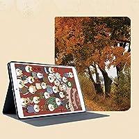 おしゃれなIPad Mini3/2/1(初代第二三世代) 専用スマートカバー 指紋防止 [オート スリープ/スリー プ解除]カラフルな活気に満ちたカエデの木の静けさをテーマにしたポーランドの道の秋の季節