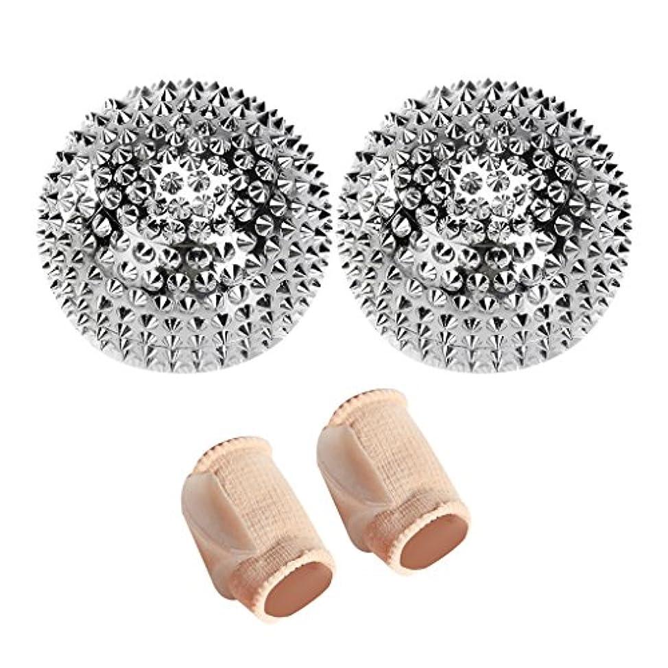 ダイヤモンド許可再生可能マッサージ 刺激 ボール 便利 + つま先 セパレーター パッド バニオン ストレートナー コレクター