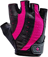 Harbinger Women's Pro Weightlifting Gloves with Vented Cushioned Leather Palm (P