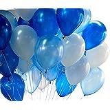 (デマ―クト)De.Markt ラテックス風船 バルーン 20個セット ブルー10個 ホワイト10個 12インチ装飾バルーン ブラックバルーン 飾り風船 パーティー ラテックスバルーン パーティーハロウィン クリスマス お祝い 飾り