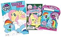 バンドルの3My Little Ponyカラーリング&アクティビティアイテム–ImagineインクMagic画像アクティビティブック、Coloring and Activity Book with Stickers , and grab & go playパック