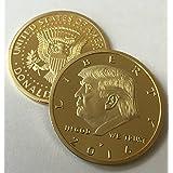 [Aizicsミント]Aizics Mint Donald Trump 2016 24kt Gold Plated EAGLE Presidential Commemorative Coin 30mm by 6848070 [並行輸入品]