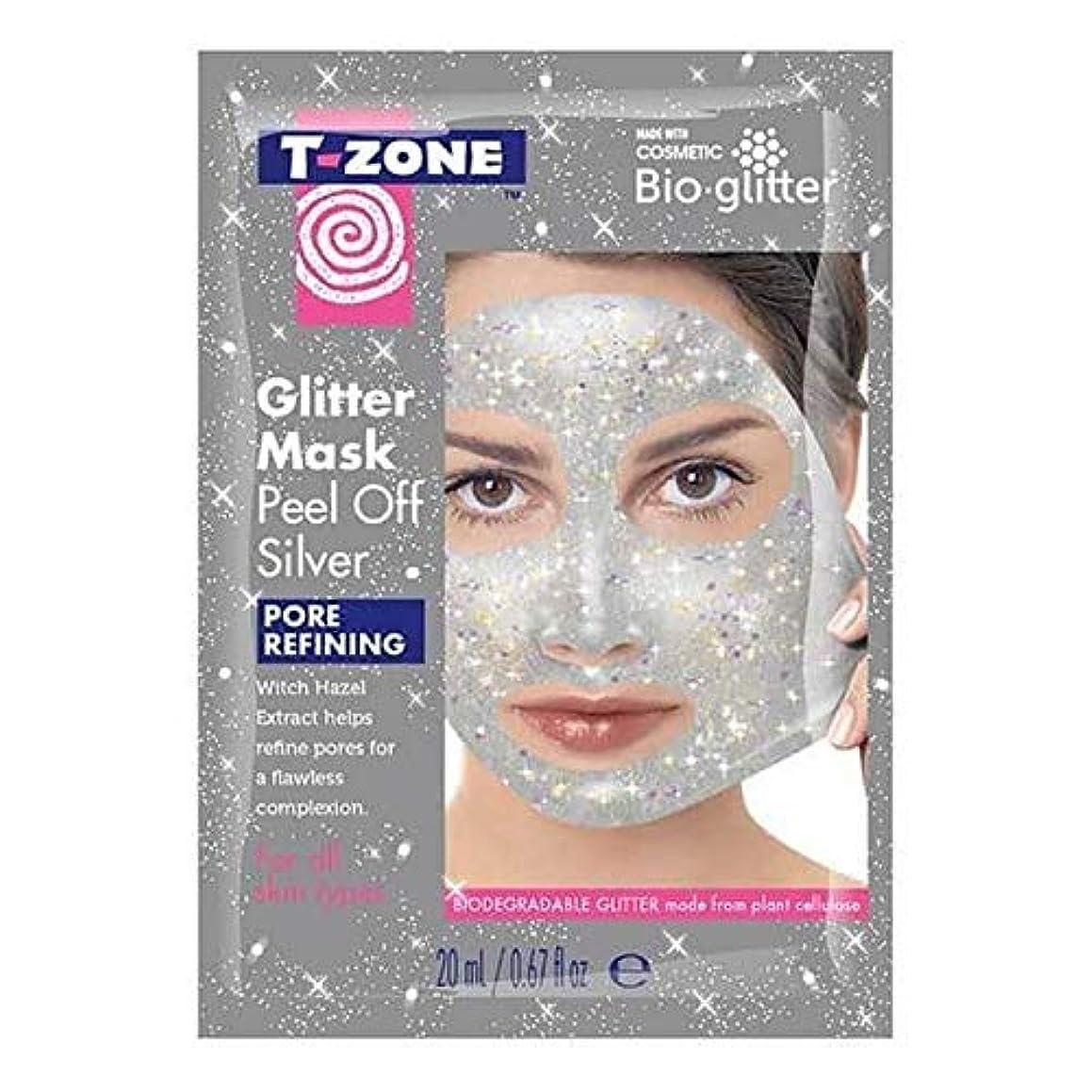乱す絡まる永遠の[T-Zone] Tゾーンの輝きは、マスクの銀をはがし - T-Zone Glitter Peel Off Mask Silver [並行輸入品]