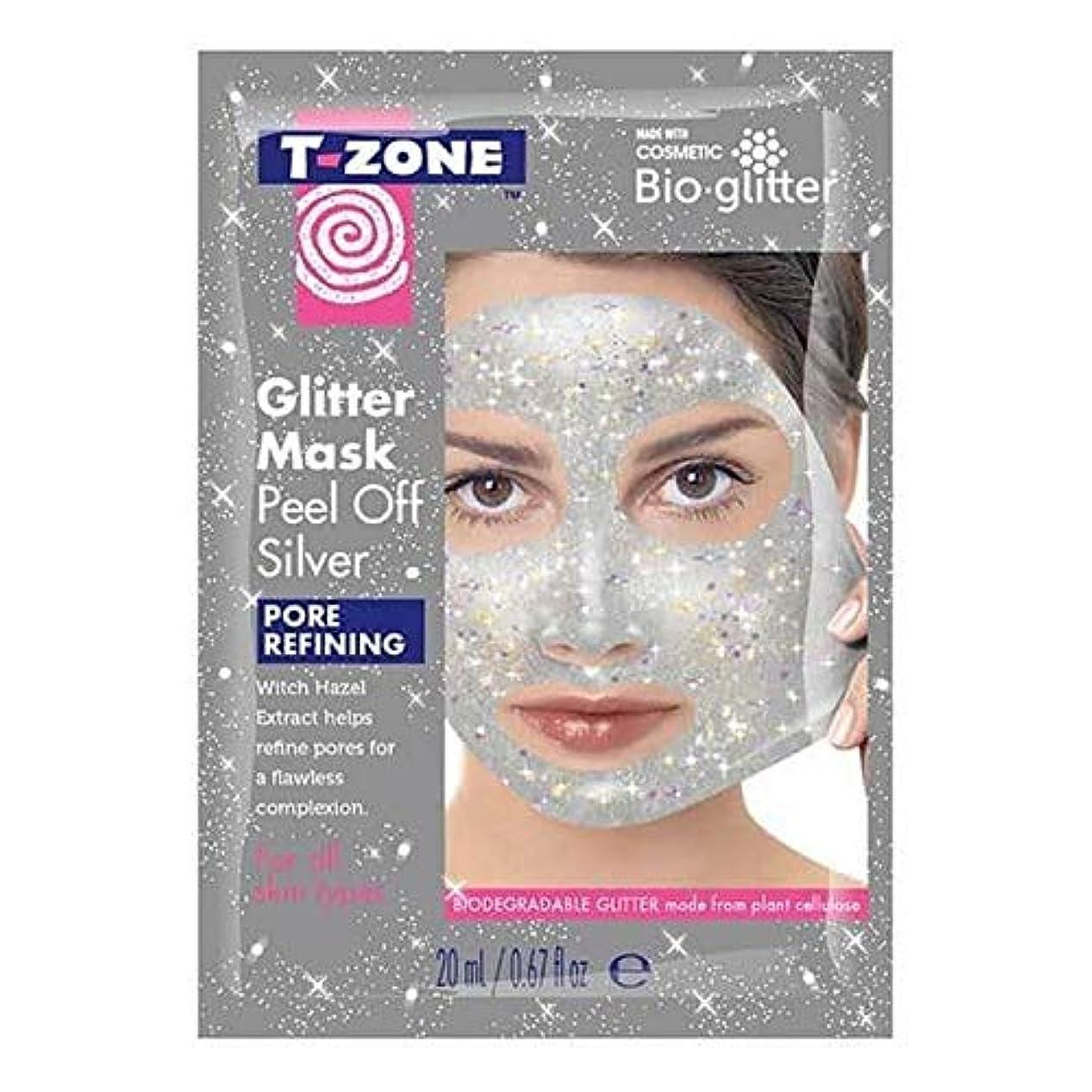 ささいな苛性礼拝[T-Zone] Tゾーンの輝きは、マスクの銀をはがし - T-Zone Glitter Peel Off Mask Silver [並行輸入品]
