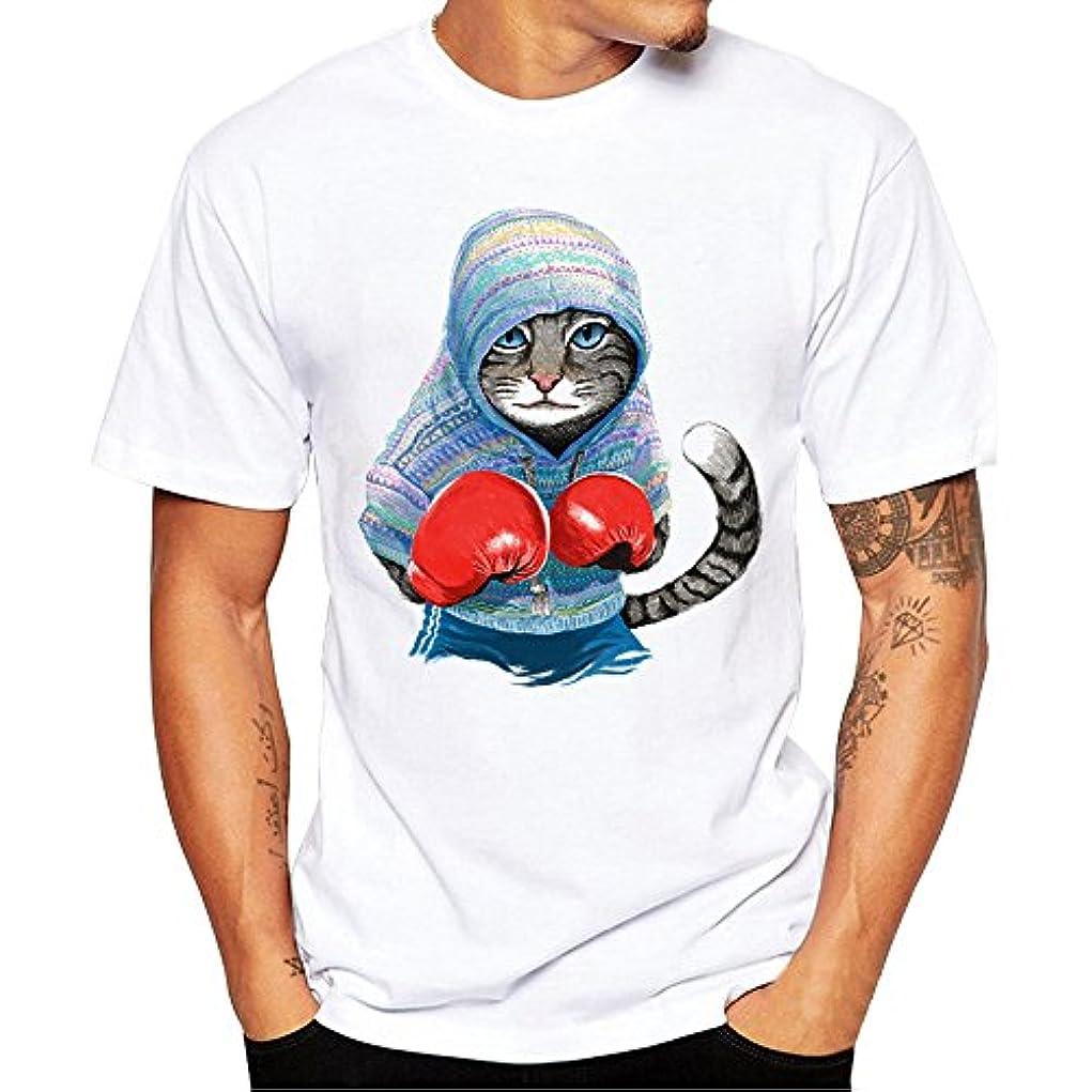 ストライク本里親Racazing 春夏 Tシャツ 大きいサイズ メンズ 可愛い 多色 Tシャツ アンダーシャツ 漫画 ねこ メンズ プリント 吸汗速乾 薄手 ブラウス 快適 半袖 トップス ファッション 通勤 通学 プリント T-shirt for men