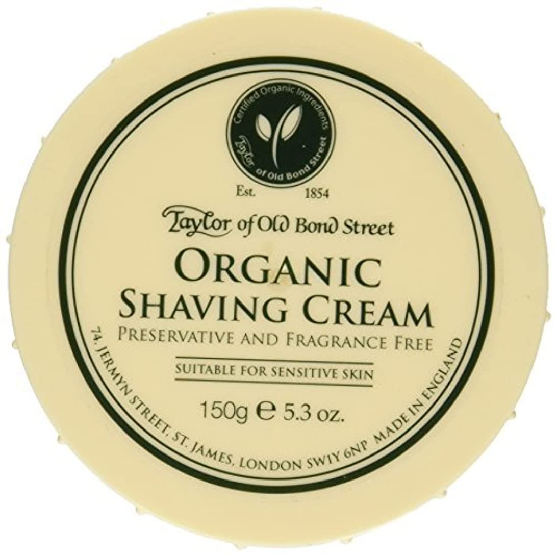 世論調査ビュッフェ蚊Taylor of Old Bond Street Organic Shaving Cream Bowl 150 g by Taylor of Old Bond Street [並行輸入品]