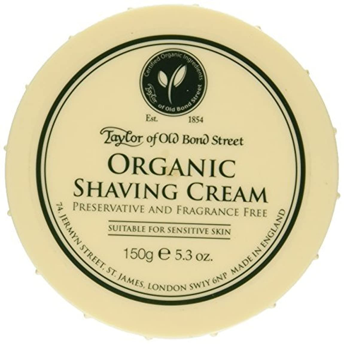 ラッチ従来のアミューズメントTaylor of Old Bond Street Organic Shaving Cream Bowl 150 g by Taylor of Old Bond Street