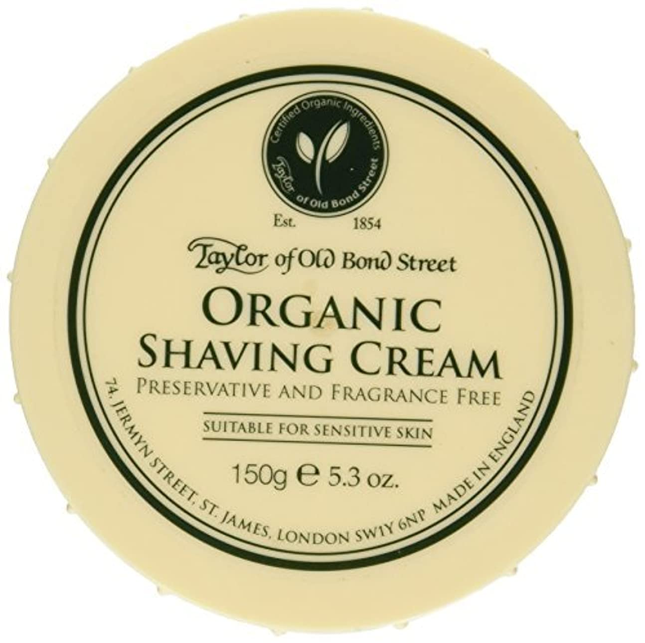 勧める苦味修復Taylor of Old Bond Street Organic Shaving Cream Bowl 150 g by Taylor of Old Bond Street [並行輸入品]